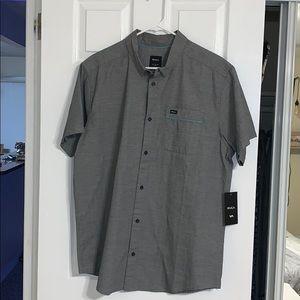 Men's Rvca grey collard shirt